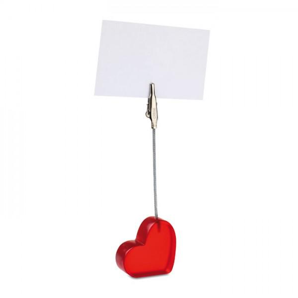 Cliporazon - Herzförmiger Notizzettelhalter