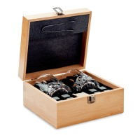 Inverness - Whisky Set in Bambus Box