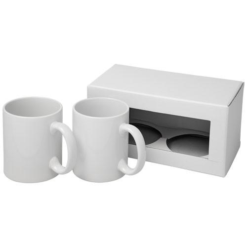 Ceramic Geschenkset mit 2 Bechern mit Sublimationsdruck