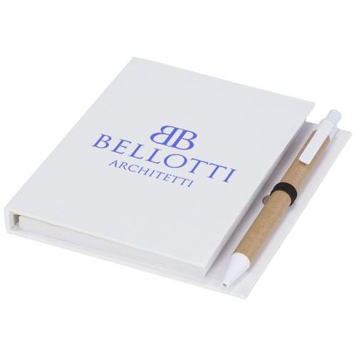Haftnotizblock mit Stift