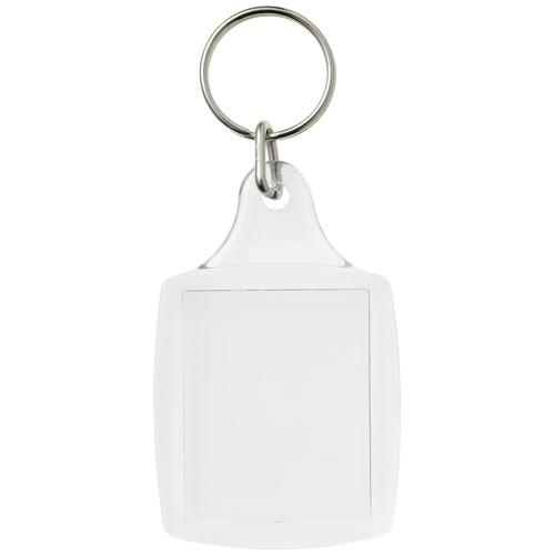 Leor Kunststoff-Schlüsselanhänger mit Metallclip
