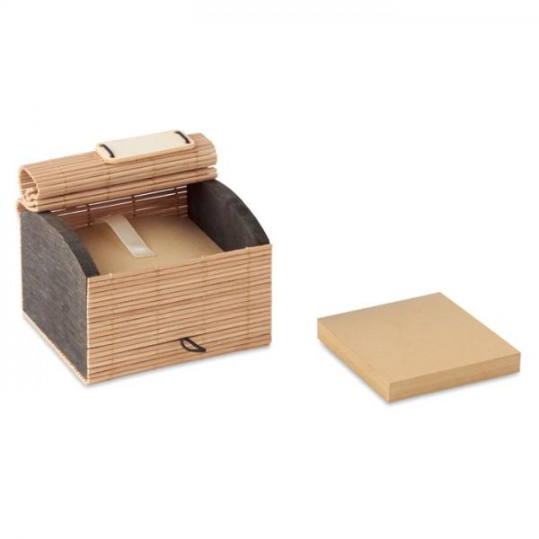 Cortina Block - Bambus Notizzettelbox