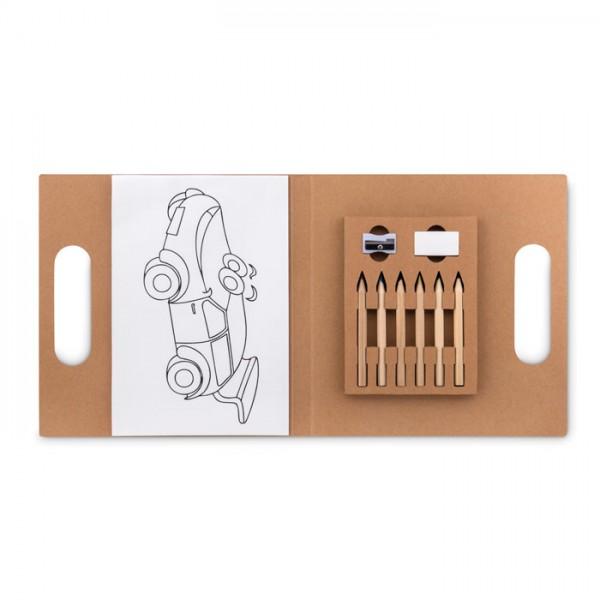 Folder2 Go - Malset mit 6 Buntstiften