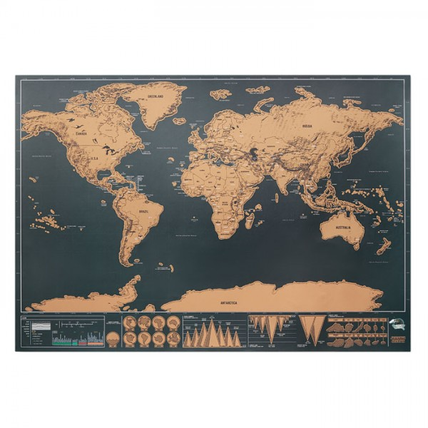 Been There - Weltkarte zum Freirubbeln