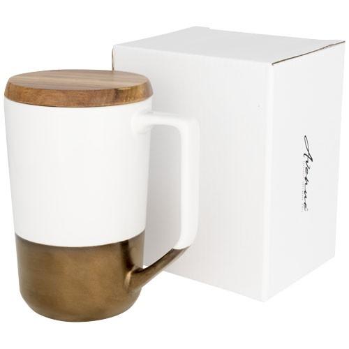 Tahoe Keramikbecher für Tee und Kaffee Holzdeckel