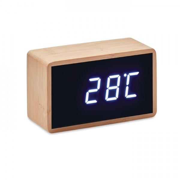 Miri Clock - LED Tisch Uhr Bambus