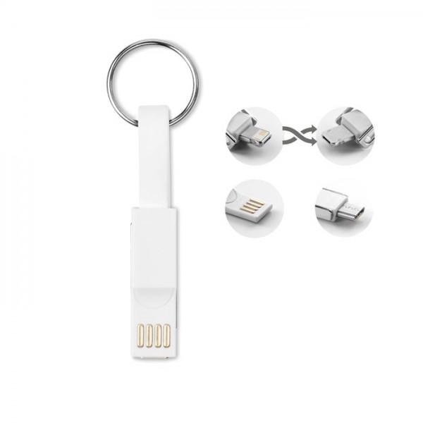 Bigmini - Schlüsselring-Ladekabel 3in1