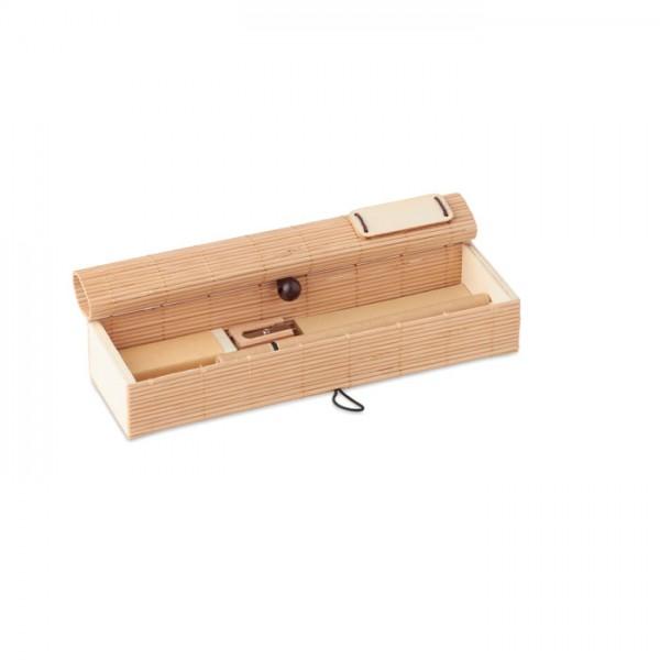 Cortina Etui - Bambus Schreib-Set