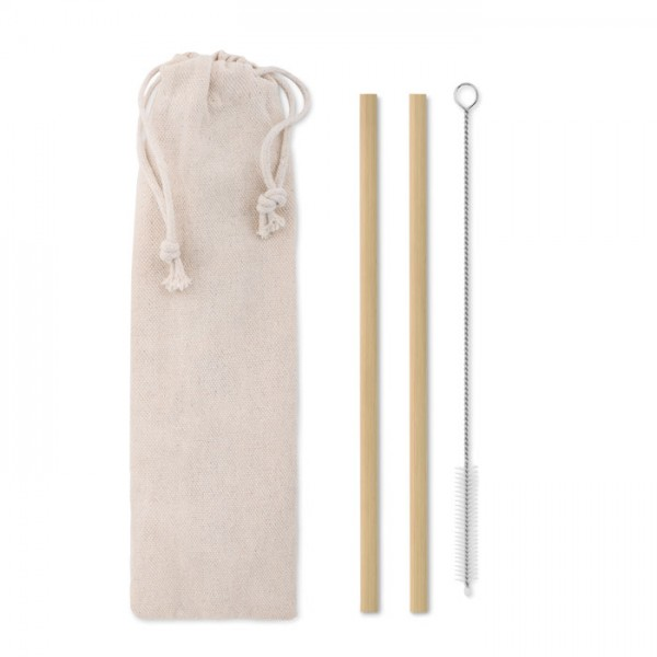 Natural Straw - Bambus Trinkhalme-Set