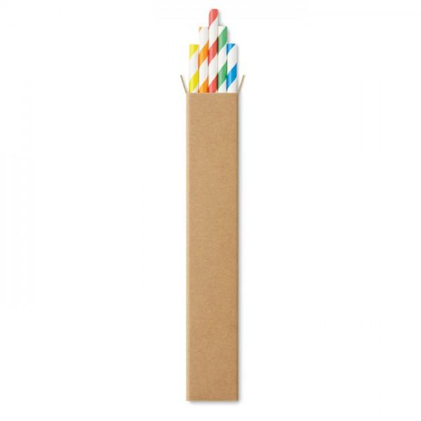 Paper Straw - 10 Papier-Trinkhalme