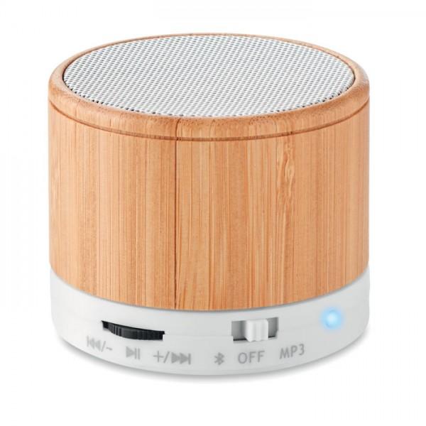 Round Bamboo - Bluetooth Lautsprecher Bambus