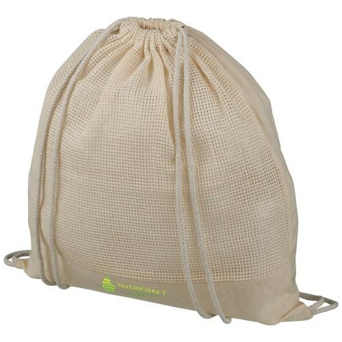 Maine Rucksack mit Kordelzug aus Baumwollgewebe