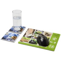Q-Mat® Mousepad- und Untersetzer-Set Combo 3