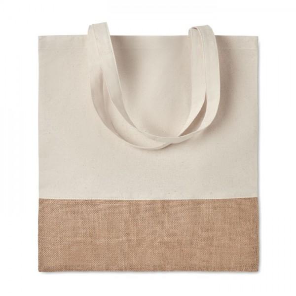 India Tote - Einkaufstasche mit Jutebesatz