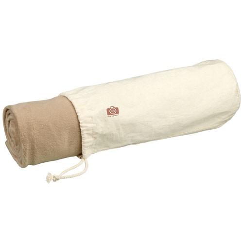 Aira Fleece-Decke aus Mikroplüsch mit Baumwollbeutel