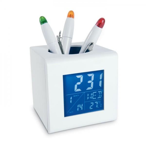 Cubo - Stiftehalter Uhr