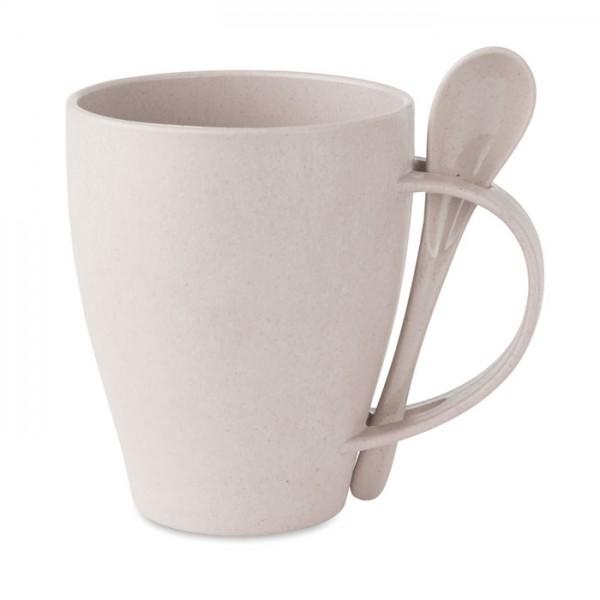 Dual Fibre - Kaffeebecher mit Löffel