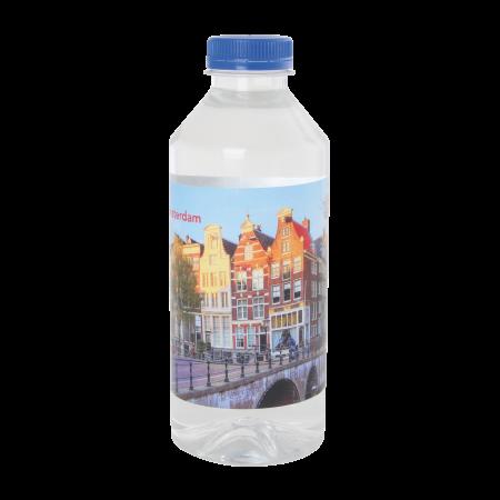 Runde Wasserflasche 330 ml flachem Schraubverschluss