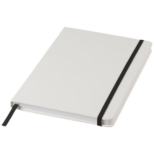 Spectrum weißes A5 Notizbuch farbigem Gummiband