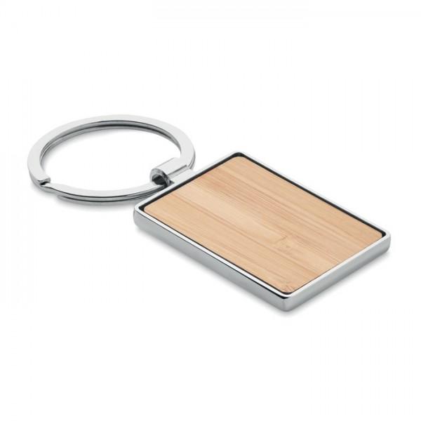 Bendigo - Schlüsselring Bambus, eckig