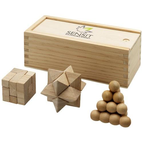 Brainiac 3 teiliges Holz Denksportspiel