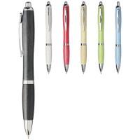 Nash Kugelschreiber aus Weizenstroh mit Chromspitze