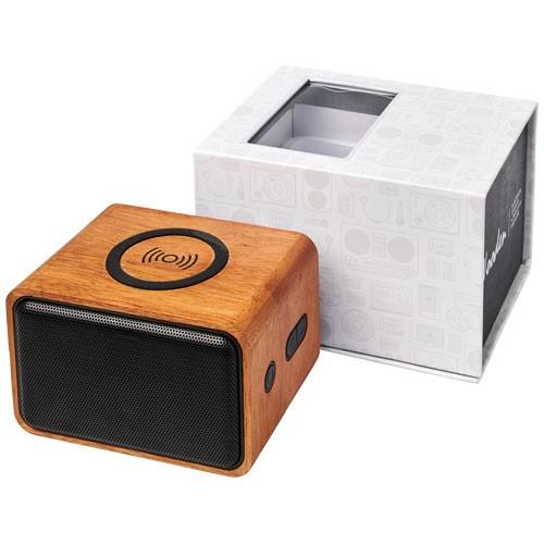 Wooden Lautsprecher mit kabellosem Lade-Pad