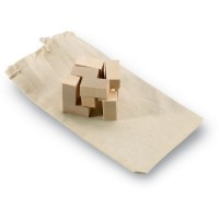 Trikesnats - Holzpuzzle im Baumwollbeutel