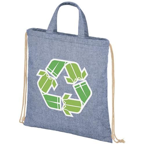Pheebs Rucksack mit Kordelzug aus recycelter Baumwolle, 210 g/m²